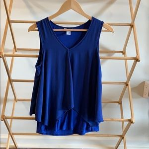 Bar3 blue sleeveless shirt- blue top